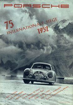 Vintage Porsche motorsport poster.