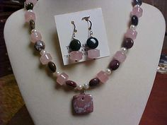 SALE Hand made Necklace set made by me Indian agate by designer2