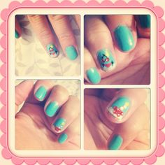 Vacation-themed nails