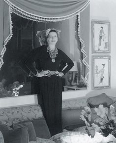 George Stacey - Diana Vreeland's Stacey designed living room at her 400 Park Avenue home.