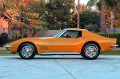 1970 Chevy Corvette Stingray in Ontario Orange.