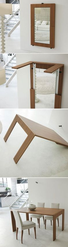 Stunning ide by Julia Kononeko in Mirror dining table... Because I'll always be needing another table.