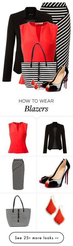"""Pop of Red"" by jessicagreene123 on Polyvore featuring Karen Millen, Etro, Christian Louboutin and Kendra Scott"