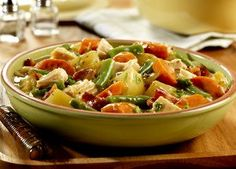 Cozy up with a big bowl of this Country Chicken Stew on a cold night. Veggies never tasted so good! Plus this soup recipe is super easy, so what are you waiting for?!