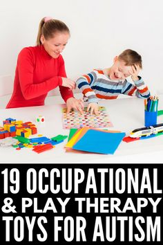 19 therapy toys for kids with autism and sensory processing disorder that help develop gross and fine motor skills, language, and cognitive skills. Activities For Autistic Children, Autism Activities, Autism Resources, Speech Therapy Activities, Children With Autism, Sensory Activities, Sensory Play, Gross Motor, Fine Motor