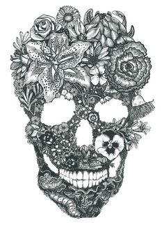 I like this but maybe more like a day of the dead skull instead!