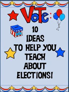 Dragon's Den Curriculum: 10 Ideas to Help You Teach About Elections! It's that time again! Kids need to know how our elections work and why they are important in a democracy. Get ten easy to use ideas to use today with your classroom on this post! 3rd Grade Social Studies, Social Studies Classroom, Social Studies Activities, Teaching Social Studies, Teaching History, Student Teaching, History Education, Voter Education, History Class