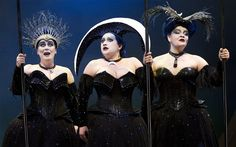 Rachel Hynes (Second Lady) Claire Watkins (Second Lady) & Louise Collet (Third Lady) in Scottish Opera's The Magic Flute