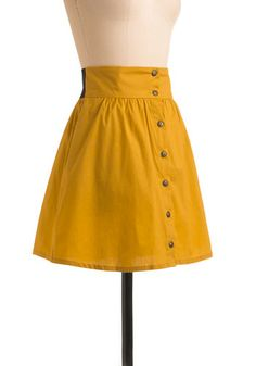 Craving Curry Skirt in Saffron- has elastic band in back on waist (i love that idea)