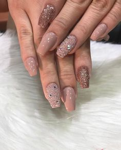 Nude Nails: 30 Beautiful Nude Color Nail Designs - Part 15 Fabulous Nails, Gorgeous Nails, Pretty Nails, Hair And Nails, My Nails, Perfect Lips, Fancy Nails, Nude Nails, Coffin Nails