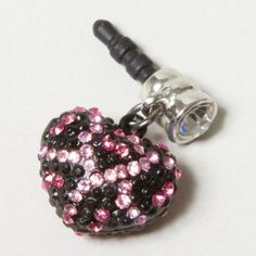Leopard Heart Cell Phone Charm