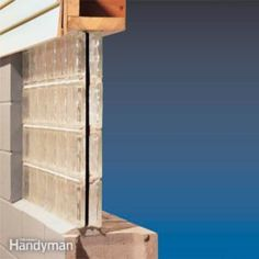 We show you how to install a preassembled glass block windows panel for a basement window. Glass block window replacement is easier than installing a traditional window. Insulating Basement Walls, Framing Basement Walls, Damp Basement, Basement Insulation, Basement Steps, Basement Bedrooms, Basement Flooring, Basement Finishing, Basement Waterproofing
