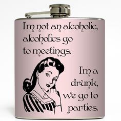 Liquid Courage Flasks™ are six ounce, stainless steel liquor flasks wrapped in amazingly awesome designs. Our hip flasks fit perfectly in your pocket or purse. Drunk Humor, Tennessee Whiskey, Thirsty Thursday, Gag Gifts, Online Shopping Clothes, Stocking Stuffers, Liquor, Branding Design, Cool Designs