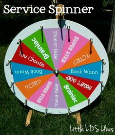 Little LDS Ideas: {Sharing Time} Service Spinner