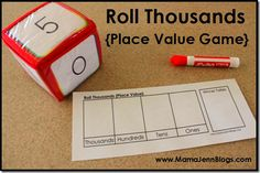 Printable Place Value Games {Roll Hundreds & Roll Thousands} « Mama Jenn {the blog}