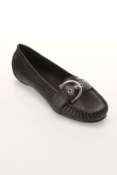 J.Loren Saoirse Slip-On Loafers In Black Leather