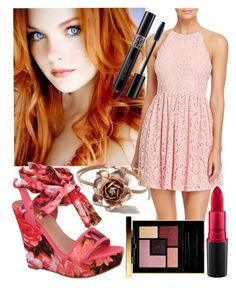 """""""Annamarie Elizabeth Prom🌻"""" by abby-deaton ❤ liked on Polyvore featuring Beston, Aqua, Dorothy Perkins, MAC Cosmetics, Christian Dior and Yves Saint Laurent"""
