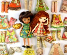 Amelia Thimble Clothing Kit : You Choose Doll Clothes Sewing kit Pattern for small dolls Sz1 by DollProject on Etsy https://www.etsy.com/listing/150236945/amelia-thimble-clothing-kit-you-choose