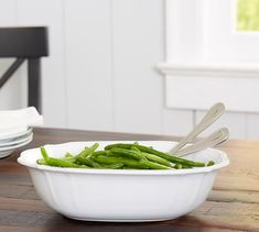 Shop Pottery Barn for serveware perfect for a holiday feast or a weeknight dinner. Find serving platters, serving dishes and serving bowls in classic styles and bold colors. Salad Plates, Serveware, Serving Platters, Dinner Plates, Cool Kitchens, Pottery Barn, Green Beans, Dinnerware, Artisan