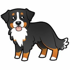 Cartoon Bernese Mountain Dog Photo Cutout
