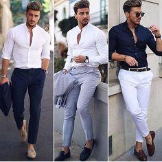Shirts New Brand Fashion Men Luxury Stylish Striped Button Casual Dress Long Sleeve Slim Fit Mens Fashion Blazer, Mens Fashion Wear, Suit Fashion, Topman Fashion, Style Fashion, Fashion Outfits, Mens Casual Suits, Stylish Mens Outfits, Casual Outfits