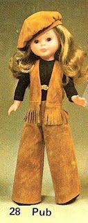 TRES ERAN TRES   (Las kekas de Elena): PATRÓN NANCY PUB Doll Fancy Dress, Nancy Doll, Disney Animator Doll, Vintage Dolls, Doll Clothes, The Past, Barbie, Sewing, Pattern