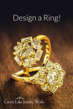 From Modern To Vintage Build A Ring That S Unique In 2020 Jewelry Diamond Earrings Earrings