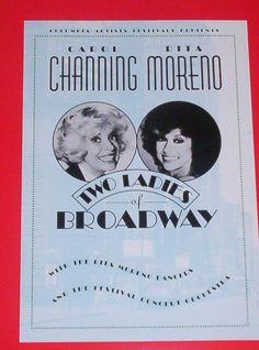 """Carol Channing Rita Moreno """"Two Ladies of Broadway"""" Herald Hershey, PA  1992"""