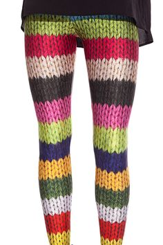 Colorful Wool Leggings by BADINKA on Etsy, €28.00