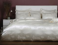 Adele Silk Bed Linen on www. Silk Bedding, Bed Linen, Adele, Bed Pillows, Pillow Cases, Furniture, Home Decor, Dyeing Yarn, Bed Ideas