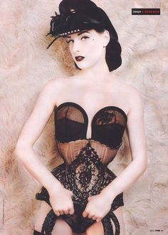 Dita Corsetry - may or may not be vintage but that bra is just lovely!