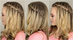 A Back to Basics tutorial showing how to do a Waterfall Braid! Makeup from Fall Inspired Makeup tutorial Shirt from PinkBlush -------------------------------...