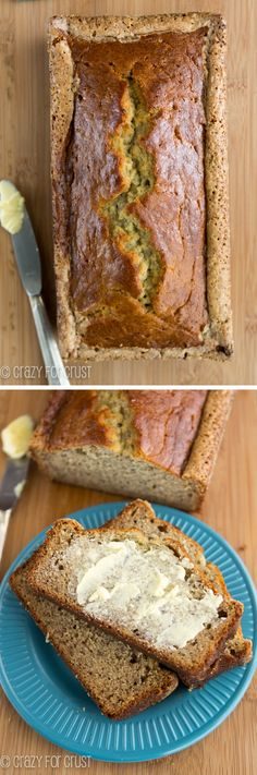 This is the BEST Banana Bread Recipe ever - it's an easy moist banana bread that's my mom's recipe. I've been making this for years and it's the BEST! Mom's Banana Bread Recipe, Perfect Banana Bread Recipe, Moist Banana Bread, Banana Bread Recipes, Bread Cake, Dessert Bread, Pumpkin Bread, The Best, Food To Make