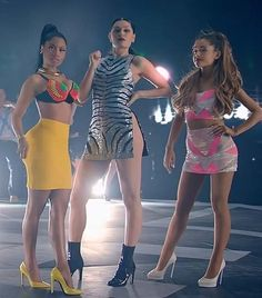 """Best Trio of Show-Stopping Outfits: Nicki Minaj, Jessie J, and Ariana Grande in """"Bang Bang"""""""