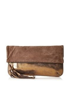 Carla Mancini Women's Reno Clutch, Brown