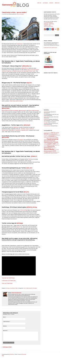 """TweetCamp in Köln – gerne wieder!"" - @Nicole Hundertmark #tck13"