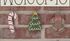 MONTHLY WELCOME DECEMBER Decorations no sign included by lisabees, $14.95
