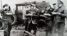 Adolf Galland  luftwaffe pilots lunch eating together winter