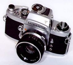 My first reflex camera; Miranda GT showing prism and automatic lens