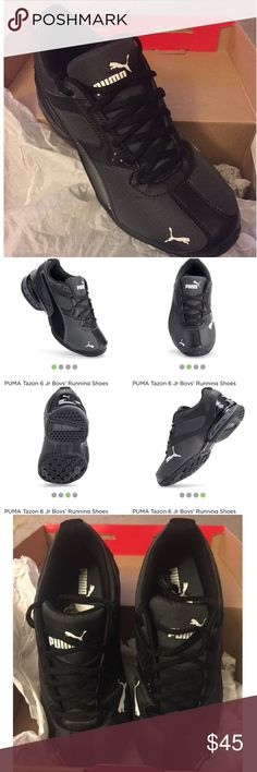 Puma Tazon 6 Ripstop Jr Kids sneakers 6c Brand New in Box Puma Tazon 6 Ripstop Jr Kids black sneakers   Size: 6C  my son has wide feet. He only tried on 1 shoe.  Offers considered. Puma Shoes Sneakers