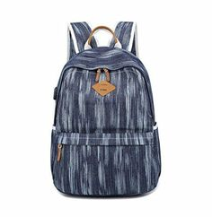 a7080825c Acmebon Bolso Impermeable para Chicas Mujeres Mochila (Retro Azul Oscuro)