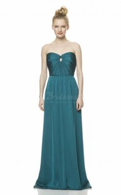 Sexy Blue Chiffon Sweetheart Neck Bridesmaid Dress - BD1206