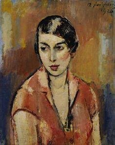 Anton Faistauer (1887–1930) German: Junge Frau im Rosa Kleid 1926