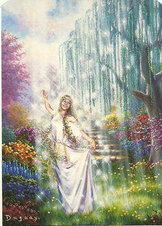 Mario Duguay Messages d'éveil Tarot, Prophetic Art, Biblical Art, Goddess Art, Visionary Art, Sacred Art, Fairy Land, Ethereal, Mother Nature