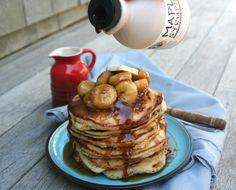 Bananas Foster Whole Wheat Pancakes
