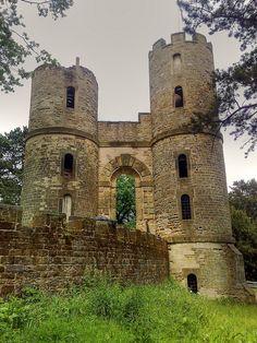 Stainborough Castle Folly Wentworth Castle, Barnsley, Yorkshire. Mock castle designed as a folly.