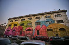Ostiense, Rome Blu's Graffiti | © Emiliano Felicissimo/Flickr Ostiense, Rome