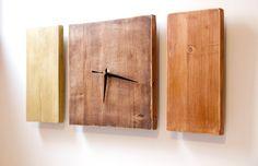 wood clock art