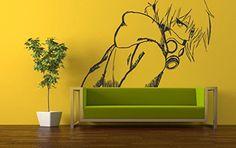 Wall Vinyl Sticker Decals Mural Room Design Pattern Anime Guy Face Respirator Mask bo585