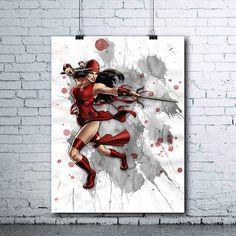 Elektra  Elektra Poster  Elektra Wall Art  Marvel  Elektra